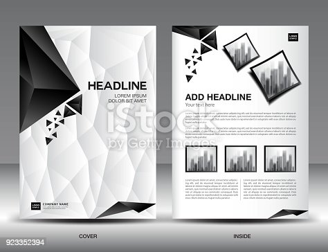 Business Brochure Flyer Template Vector Illustration Black And White