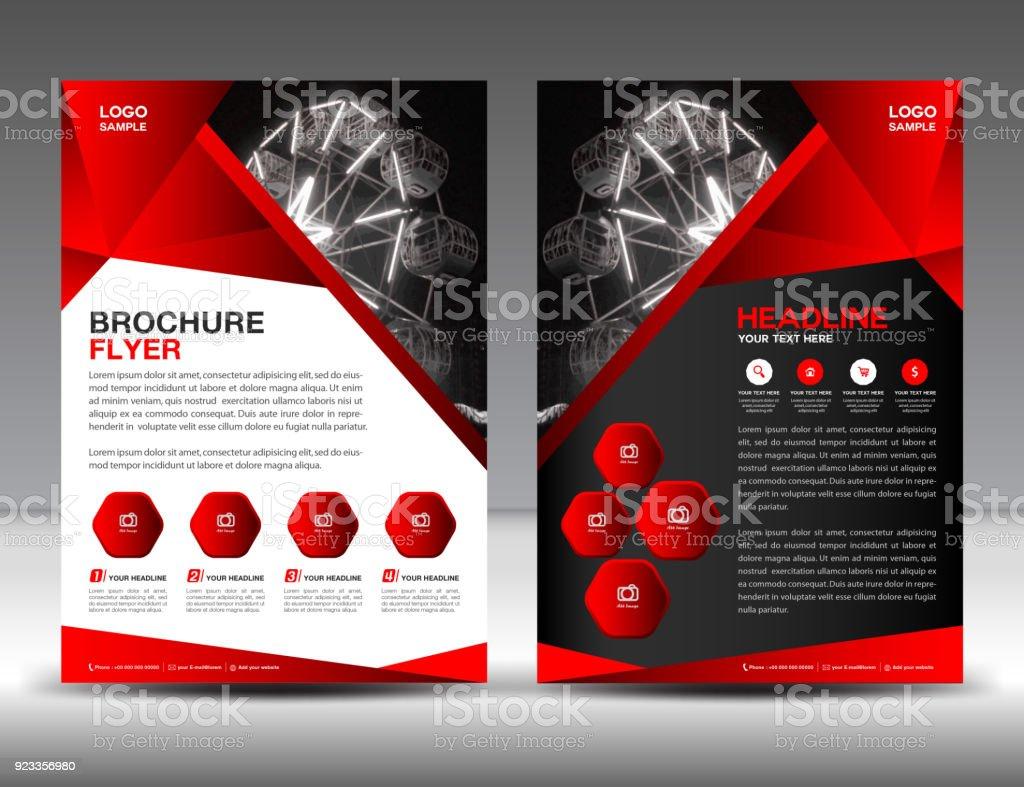 Businessbroschüreflyervorlagevektorillustration Coverdesign ...