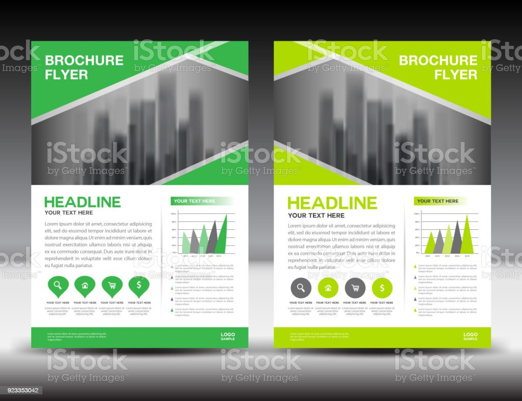 Brochure Booklet Flyer Or Book Cover Template Vector : Business brochure flyer template vector illustration green