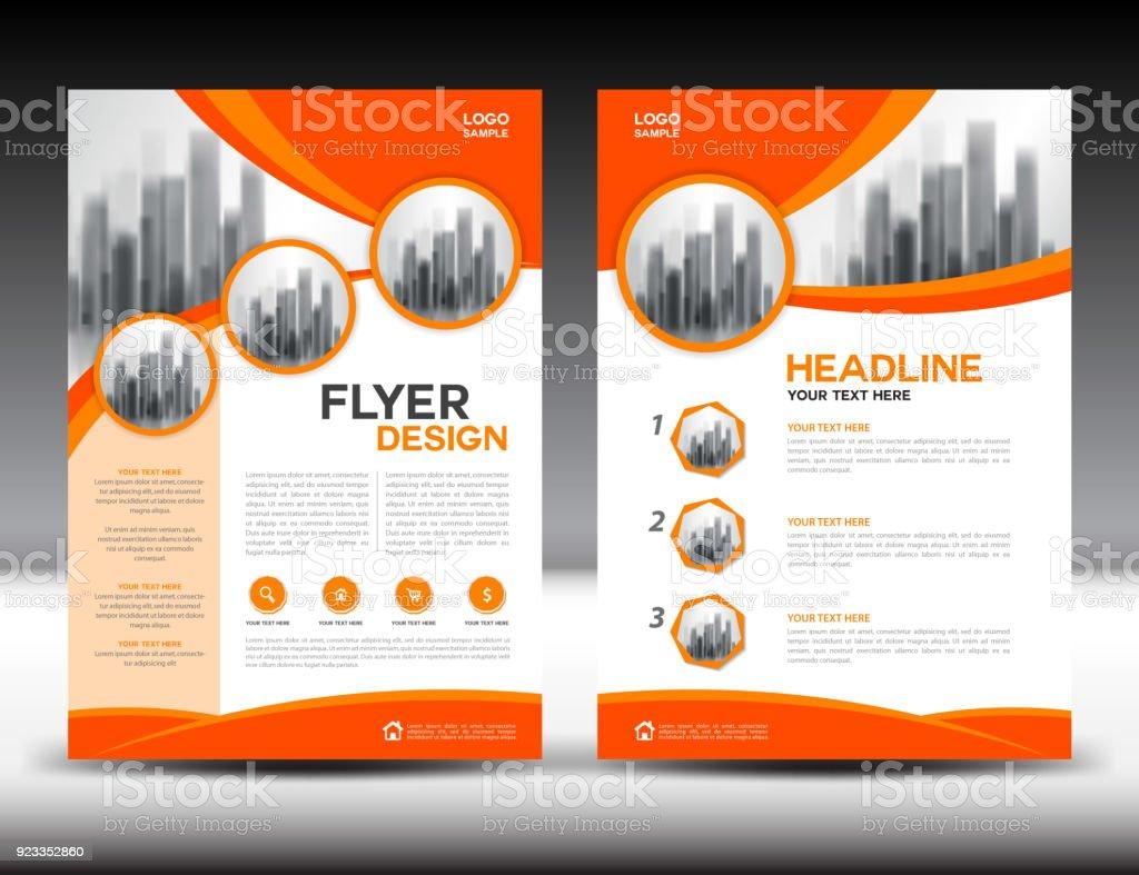 Business Broschüre Flyer Vorlage Vektorillustration Orange Cover ...