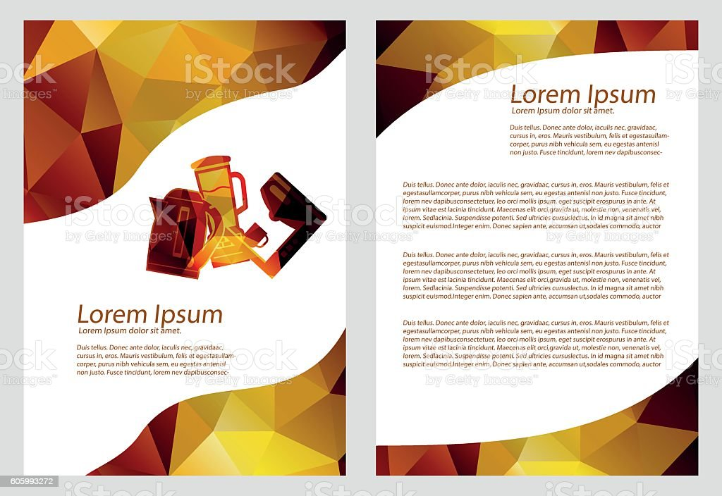 Business Brochure Kitchen Appliances Template Booklet Or Flyer A4 ...