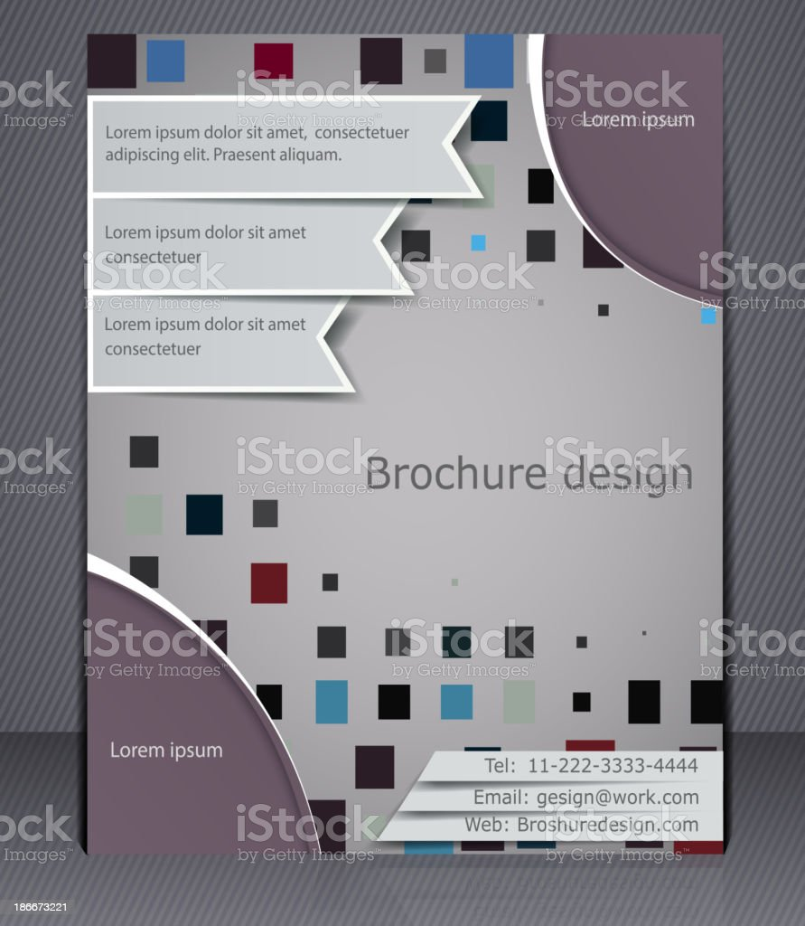 Business brochure layout. Abstract template with elements of squares royalty-free stock vector art