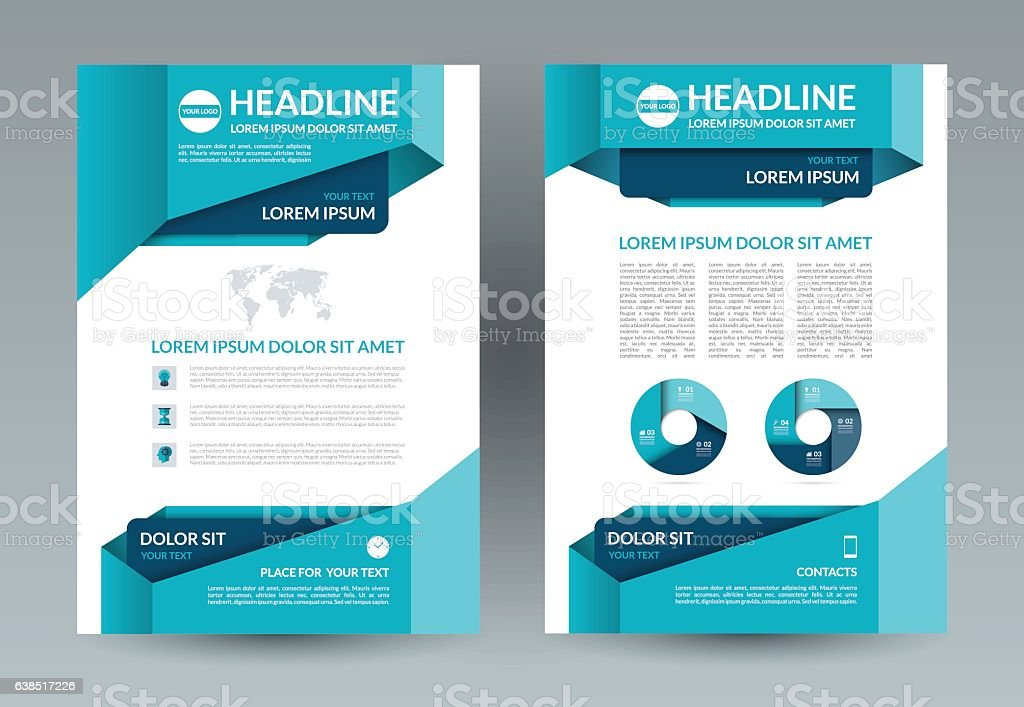 Business Brochure Layout Template A4 Size Front And Back Page