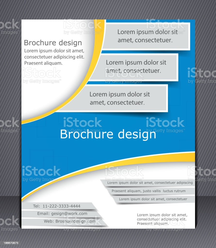 Business brochure. Layout template royalty-free stock vector art