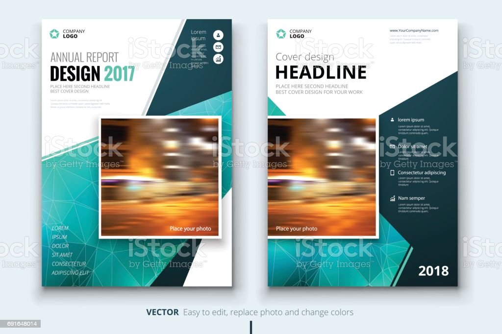 business brochure or flyer design leaflet presentation catalog with abstract geometric background modern