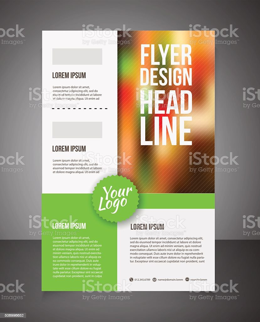 Business Brochure Or Offer Flyer Design Template Stock Vector Art