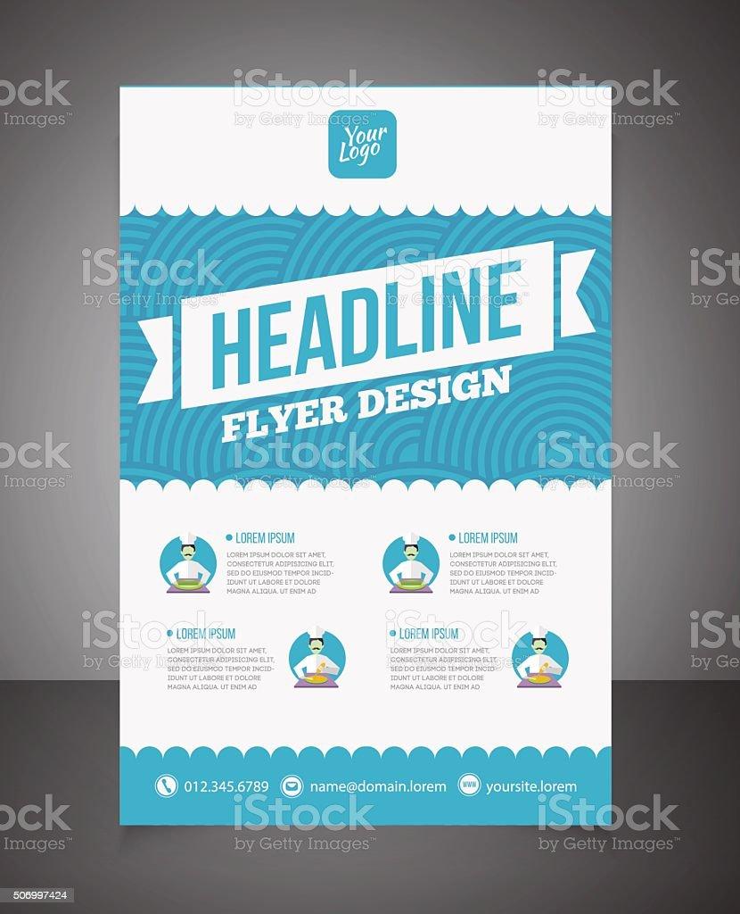 Business brochure or offer flyer design template. vector art illustration