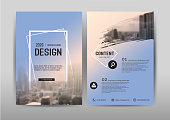 Business brochure template design.Cover layout for annual report ,presentation,leaflet and Abstract banner for advertising. A4 size vector illustration.