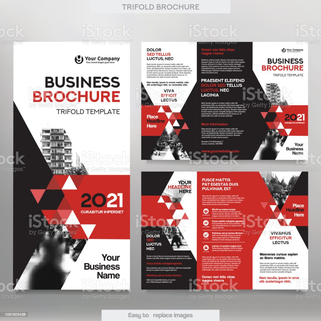 Business brochure template in tri fold layout stock vector art business brochure template in tri fold layout royalty free business brochure template in tri flashek Images