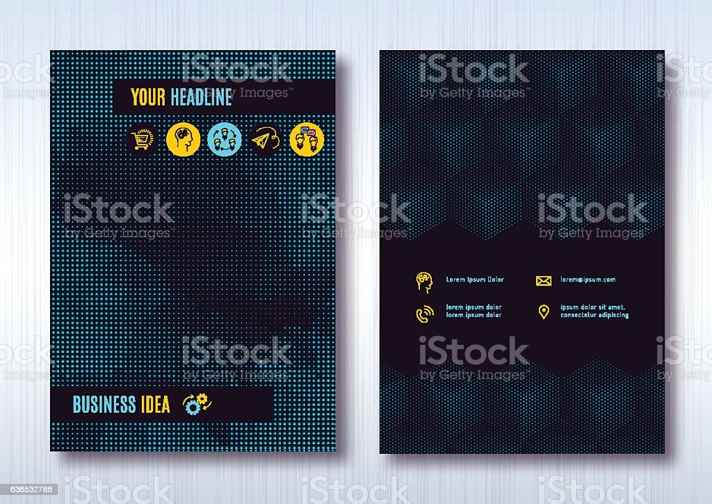Business brochure template layout, cover design annual report vector art illustration
