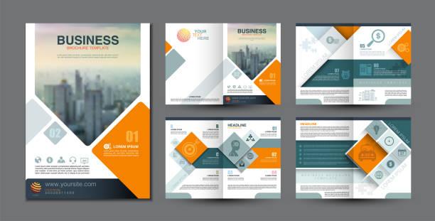 szablon broszury biznesowej - broszura stock illustrations