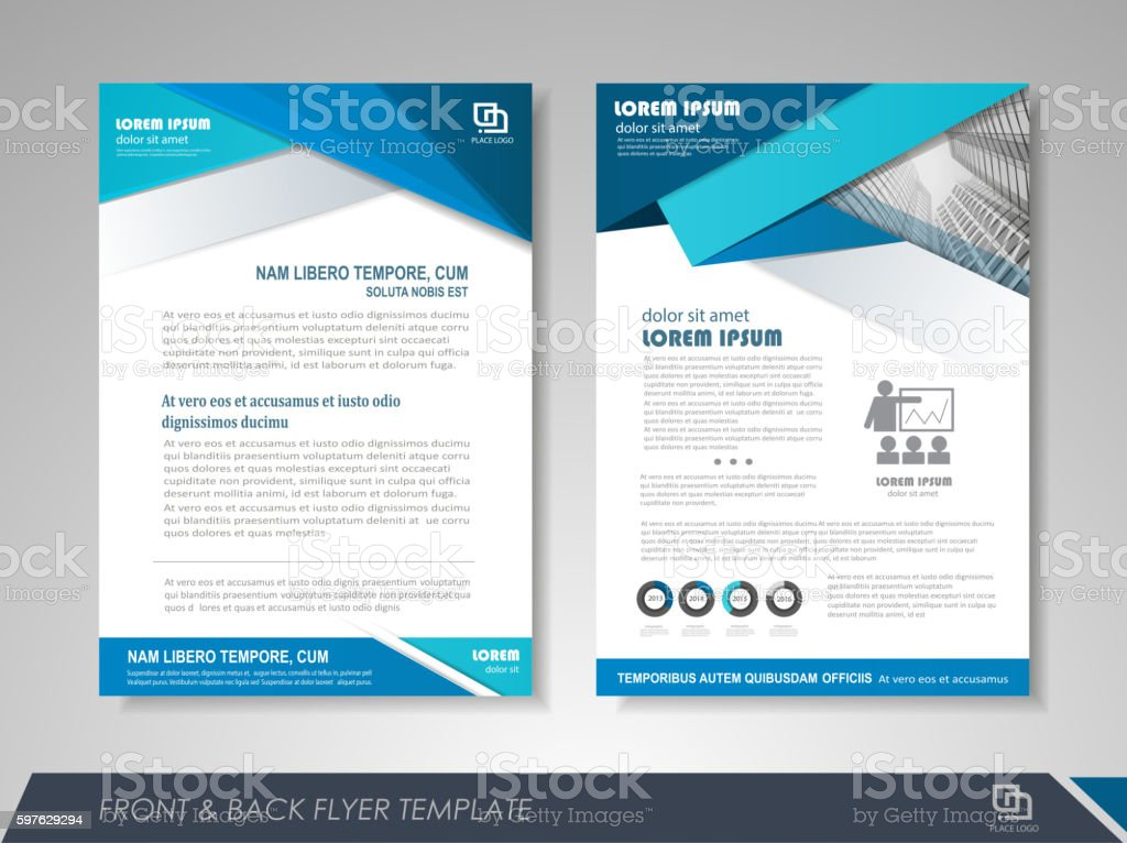 Business brochure template vector art illustration