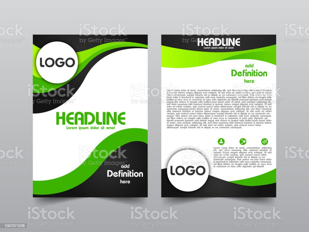 business brochure template with space for text stock vector art