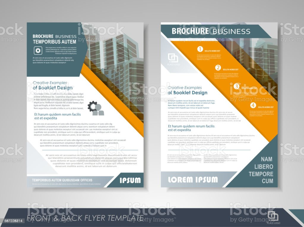 Business brochure vector art illustration