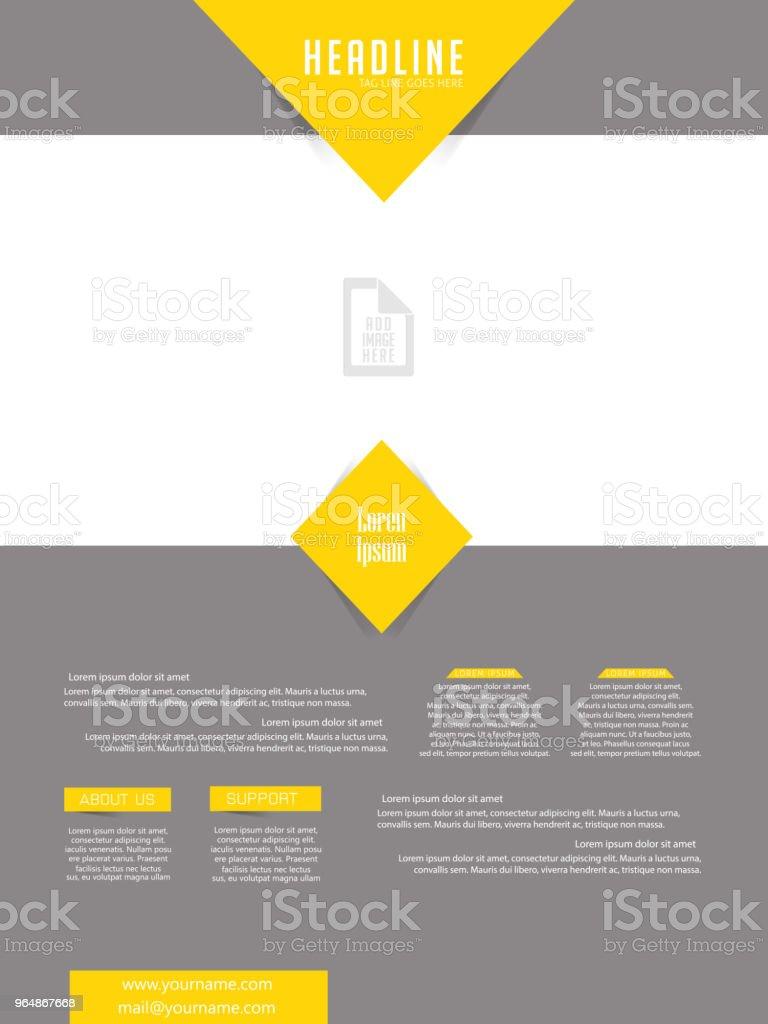 商業摺頁冊或傳單 - 免版稅企業圖庫向量圖形