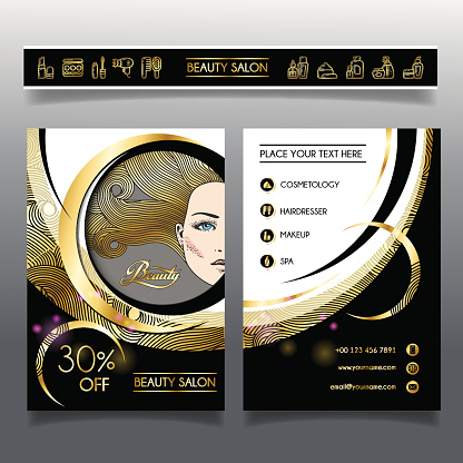 Business brochure-template for beauty salons and hairdressing_1