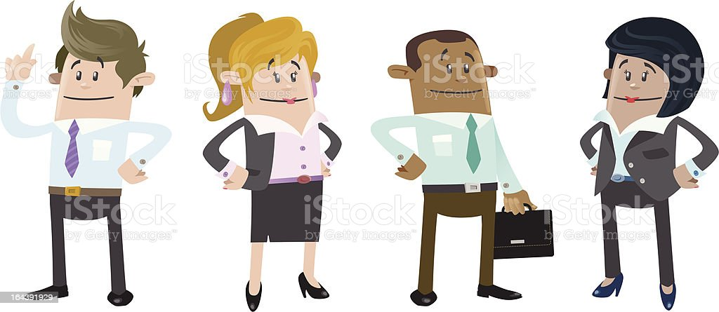 Business Buddies ready for work royalty-free stock vector art