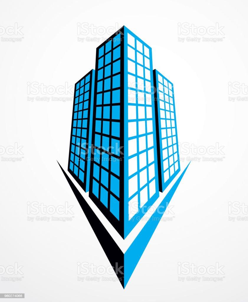 Geschäftshaus Moderne Architekturvektorillustration Immobilien Immo ...