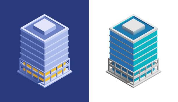 ilustrações, clipart, desenhos animados e ícones de edifício do negócio - banco edifício financeiro