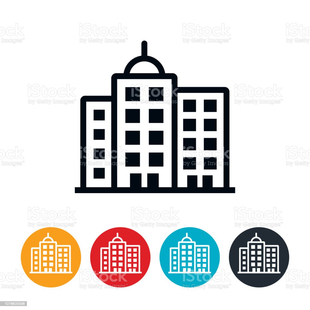 Business Buildings Icon vector art illustration