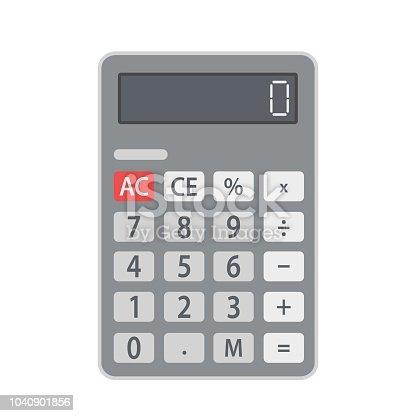 Business calculator flat icon, stock vector illustration