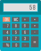 Business calculator technology vector icon.