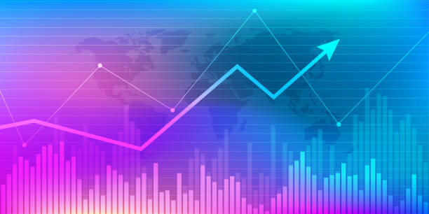 Business candle stick graph chart of stock market investment trading. Trend of graph. Vector illustration Business candle stick graph chart of stock market investment trading. Trend of graph. Vector illustration condition stock illustrations