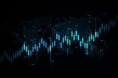 Business candle stick graph chart of stock market investment trading, Bullish point, Bearish point for business and financial concepts, reports and investment. Vector illustration