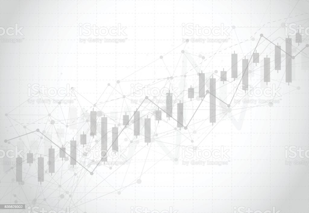 Business candle stick graph chart of stock market investment trading on dark background design. Bullish point, Trend of graph. Vector illustration vector art illustration