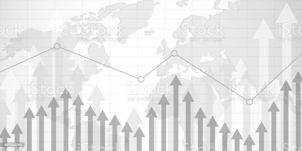 Geschäft Kerze Stick Graph-Diagramm der Börse Investition Handel auf grauem Hintergrunddesign. Vektor-Illustration. – Vektorgrafik
