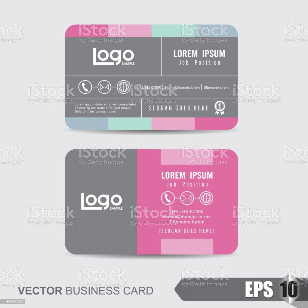 Business Card 284 vector art illustration
