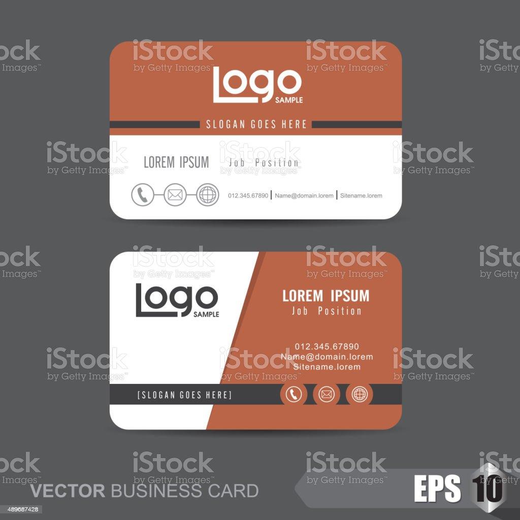 Business Card 287 vector art illustration