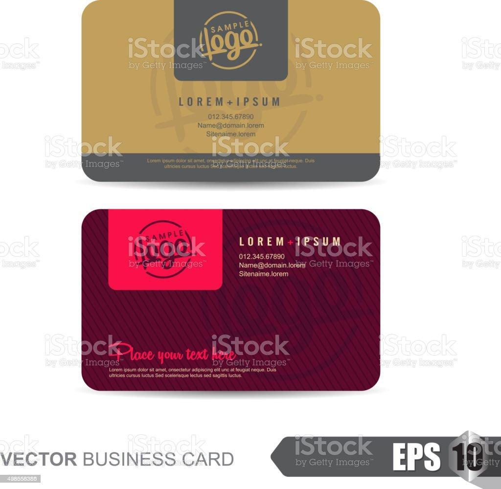 Business Card 322 vector art illustration