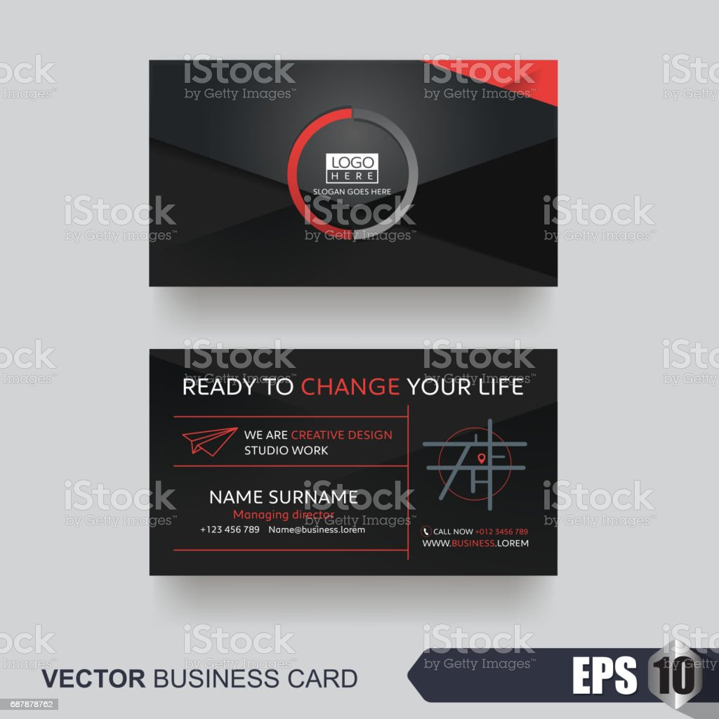 Business Card 346 vector art illustration
