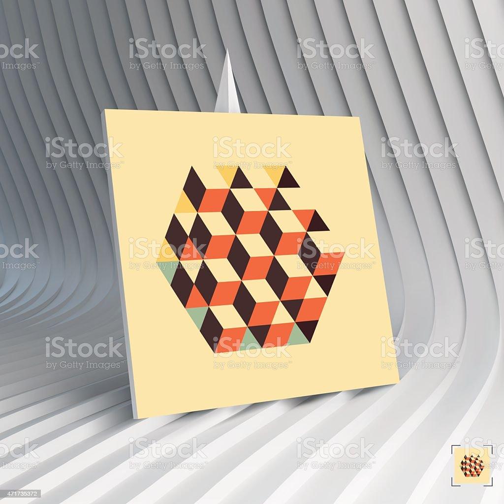 Carte De Visite 3 D Illustration Vectorielle