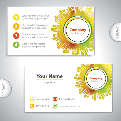 business card - Abstract architectural building
