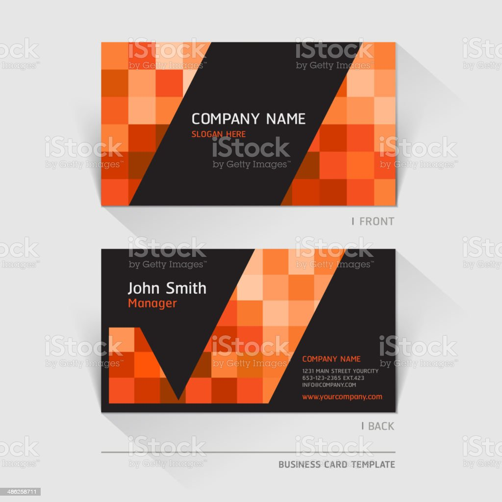 Business card abstract background. royalty-free stock vector art