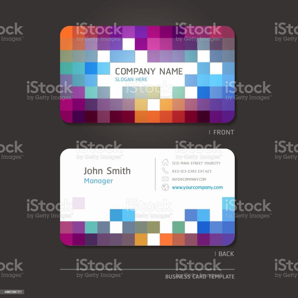 Visitenkarte abstrakte Hintergrund. – Vektorgrafik