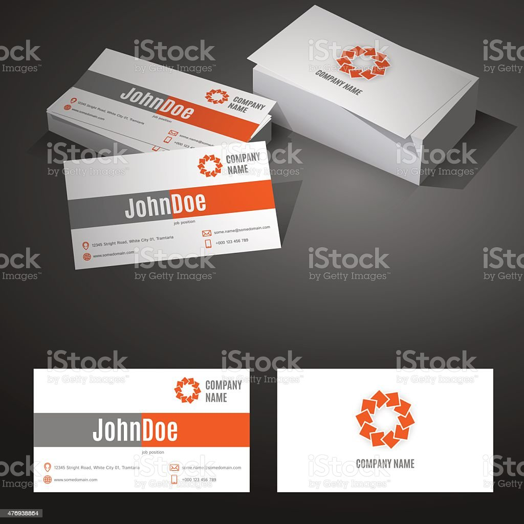 business card background design template with icons vector