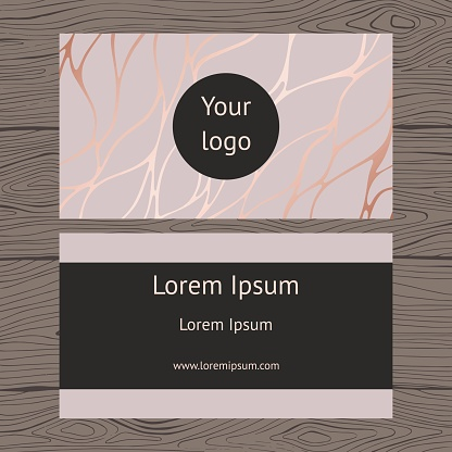 Business card. Background with imitation of rose marble