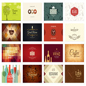 Food and drink theme. For cafe, coffee house, restaurant, bar
