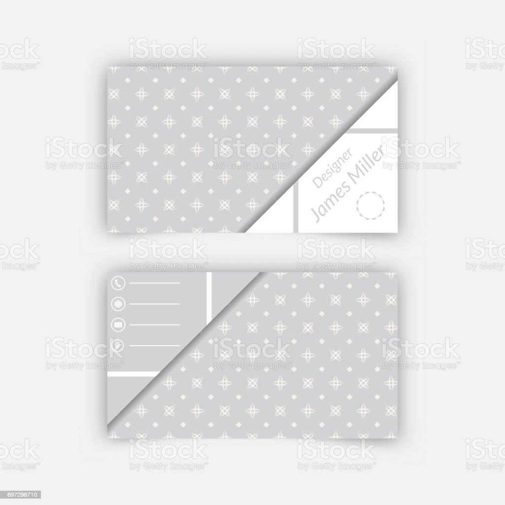 Carte De Visite Modele Vierge Cliparts Vectoriels Et Plus D
