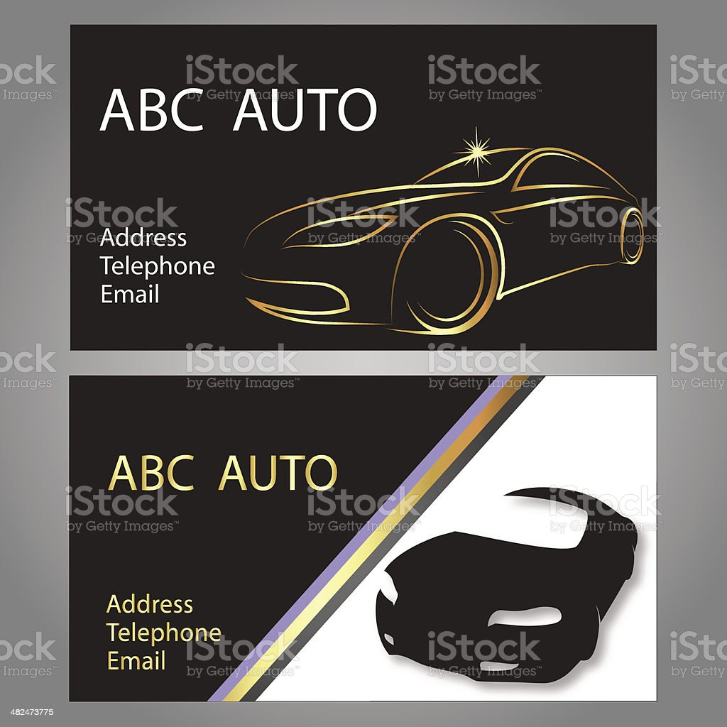 Business Card Car Stock Vector Art & More Images of Auto Repair Shop ...