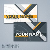 Business card concept idea with copy space. EPS 10 file. Transparency effects used on highlight elements.