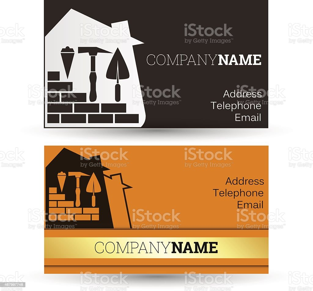 Business Card Construction Stock Vector Art & More Images of 2015 ...