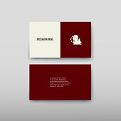 Business card containing contact information making it easier to find clients for promoting goods and services in the financial market. Vector illustration