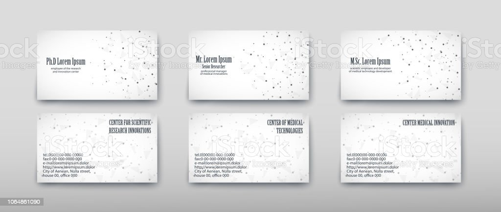 Business Card Containing Contact Information Making It