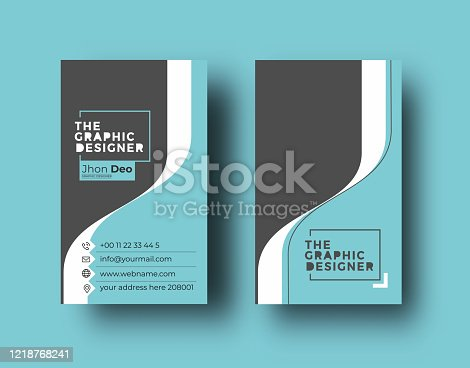 istock Business Card - Creative and Clean Modern Business Card Template. 1218768241
