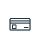 istock business card design icon vector from business concept. Thin line illustration of business card design editable stroke. business card design linear sign for use on web and mobile apps, logo, print . 1319698805