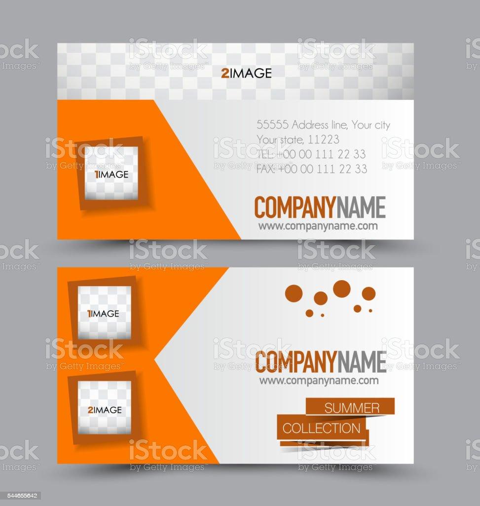 Diseño De Plantilla De Tarjeta De Presentación Para La Empresa De ...